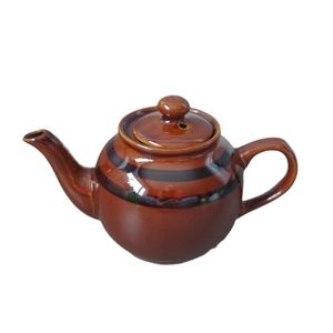 Vintage Brown Glazed Betty Teapot for One